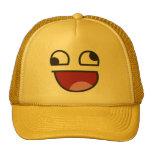 Lustiges Wonky mit Augen was emoji Baseballkappen