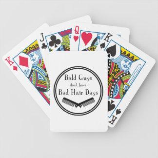 Lustiges Zitat - kahle Typen erhalten nicht Bicycle Spielkarten