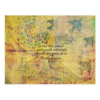 """Lustiges Zitat Shakespeare """"ich mag diesen Platz…. Postkarte"""