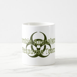 Lustiges Zombie-Apokalypse-Warteteam Kaffeetasse