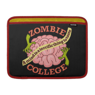 Lustiges Zombie-Uni-Logo MacBook Sleeve