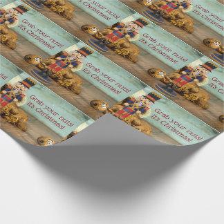 Lustiges Zupacken Ihr Nuts Nussknacker-Weihnachten Geschenkpapier