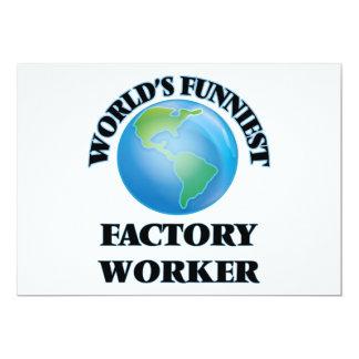 Lustigster Arbeiter der Welt 12,7 X 17,8 Cm Einladungskarte
