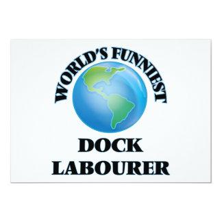Lustigster das Dock-Arbeiter der Welt 12,7 X 17,8 Cm Einladungskarte