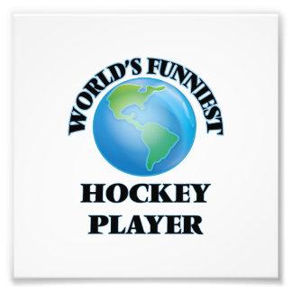 Lustigster das Hockey-Spieler der Welt Kunstfoto