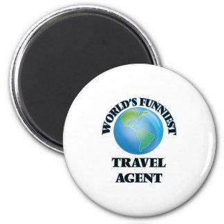 Lustigster die Reise-Agent der Welt Runder Magnet 5,1 Cm