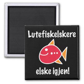 Lutefisk Liebhaber dauern längeren Magneten Quadratischer Magnet
