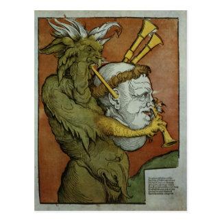 Luther als die Dudelsäcke des Teufels, c.1535 Postkarte