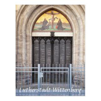 Lutherstadt Wittenberg These-Tür Postkarte