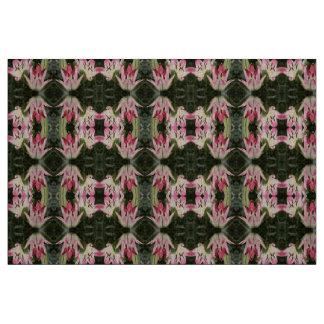 Lutscher-asiatische Lilien-Blumen und Knospen Stoff
