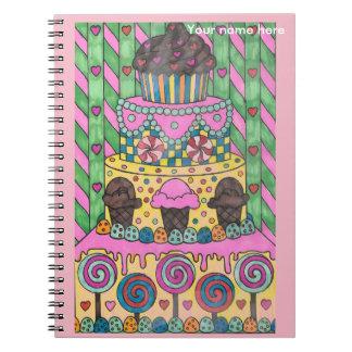 Lutscher-Kuchen-Notizbuch personifizieren Spiral Notizblock