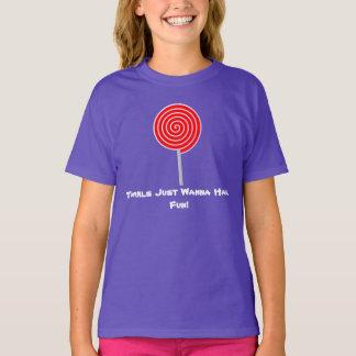Lutschert-shirt der Mädchen T-Shirt