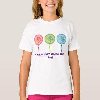 Lutschert-shirt des Mädchens T-Shirt