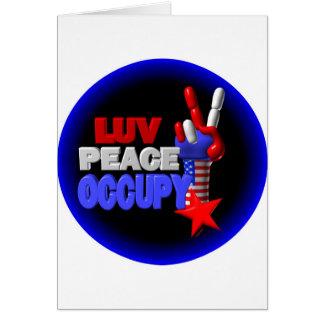 Luv Frieden besetzen Karte