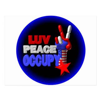 Luv Frieden besetzen Postkarte