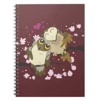 Luv Vogel Owls~ Notizbuch Notizblock