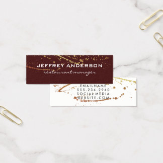 Lux-Spritzer-rotes Weiß Mini Visitenkarte