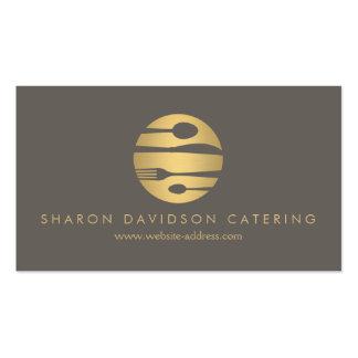 Luxe Gold und Taupe-Catering, Restaurant, Koch Visitenkarten