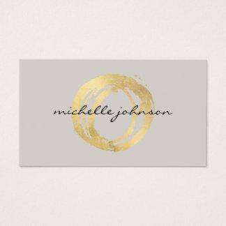 Luxe Imitat-Gold gemaltes Kreis-Designer-Logo auf Visitenkarten