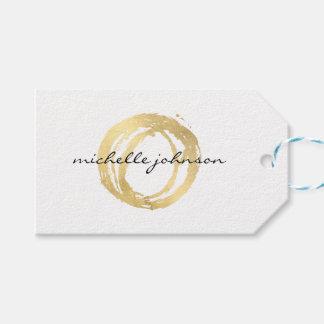 Luxe Imitat-Gold gemaltes Kreis-Designer-Logo Geschenkanhänger