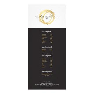 Luxe Imitat-Gold gemaltes Kreis-Designer-Logo Individuelle Werbekarte