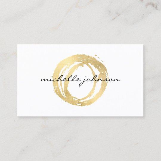 Luxe Imitat Gold Gemaltes Kreis Designer Logo Visitenkarte