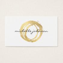 Luxe Imitat-Gold gemaltes Kreis-Designer-Logo Visitenkarten