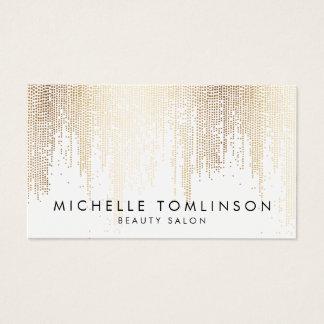 Luxe Imitat-Goldconfetti-Regen-Muster Visitenkarten