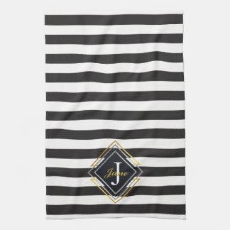 Luxe Monogramm Handtuch