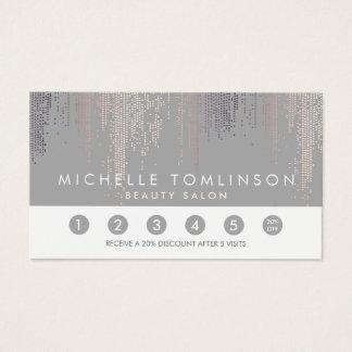 Luxe Schimmer-Blickconfetti-Regen-graue Visitenkarte