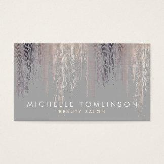 Luxe Schimmer-Blickconfetti-Regen-Muster-Grau Visitenkarte