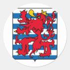 Luxemburg, Belgien Runder Aufkleber