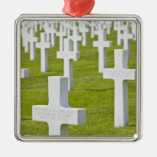 Luxemburg, Hamm. US-Militär-Friedhof Silbernes Ornament