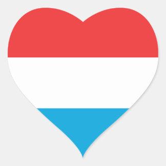 Luxemburg Herz-Aufkleber