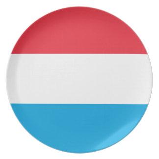 Luxemburg kennzeichnen melaminteller