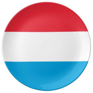 Luxemburg kennzeichnen porzellanteller