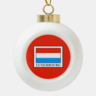 Luxemburg Keramik Kugel-Ornament