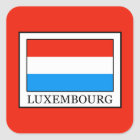 Luxemburg Quadratischer Aufkleber