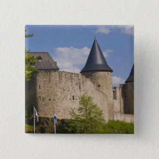 Luxemburg, sicherer River Valley. Bourscheid, Quadratischer Button 5,1 Cm