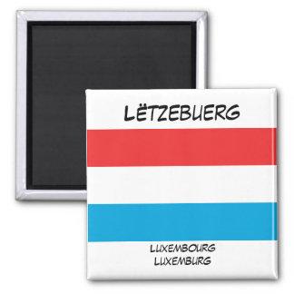 Luxemburg-Sprachflaggen-Quadrat-Magnet Kühlschrankmagnet
