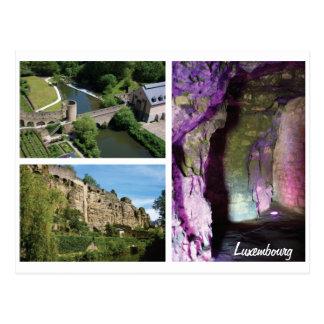 Luxemburg-Stadt-Höhlen-Postkarte Postkarte