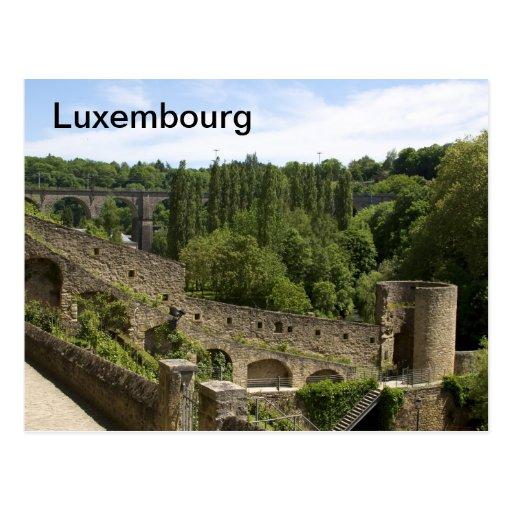 Luxemburg-Stadt ruiniert Postkarte