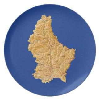 Luxemburg zeichnen Platte auf Melaminteller