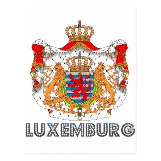 Luxemburger-Emblem Postkarte