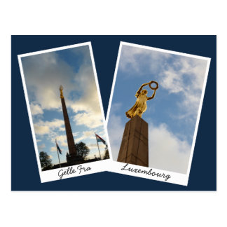 Luxemburgs goldene Dame Postkarte