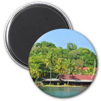 Luxuriöser Erholungsort Runder Magnet 5,1 Cm