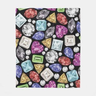 Luxuriöses buntes Diamant-Muster Fleecedecke
