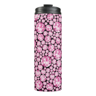 Luxuriöses rosa Diamant-Muster Thermosbecher