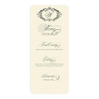 Luxuriöses u. elegantes Hochzeits-Menü 10,2 X 23,5 Cm Einladungskarte