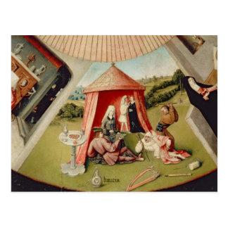 Luxus, Detail von der Tabelle der sieben Postkarte